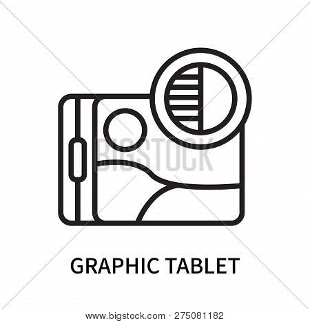 Graphic Tablet Icon Isolated On White Background. Graphic Tablet Icon Simple Sign. Graphic Tablet Ic