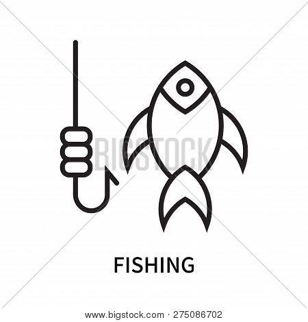Fishing Icon Isolated On White Background. Fishing Icon Simple Sign. Fishing Icon Trendy And Modern