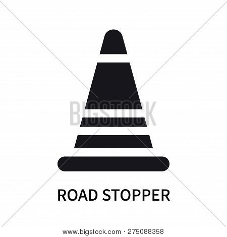 Road Stopper Icon Isolated On White Background. Road Stopper Icon Simple Sign. Road Stopper Icon Tre