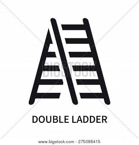 Double Ladder Icon Isolated On White Background. Double Ladder Icon Simple Sign. Double Ladder Icon