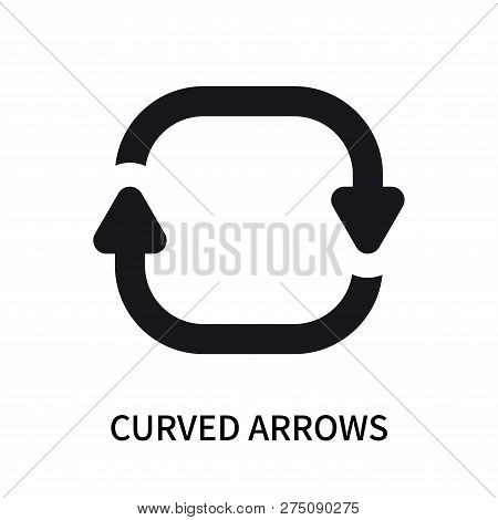 Curved Arrows Icon Isolated On White Background. Curved Arrows Icon Simple Sign. Curved Arrows Icon