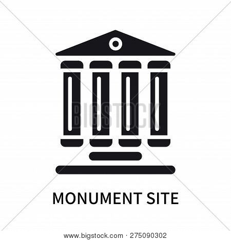 Monument Site Icon Isolated On White Background. Monument Site Icon Simple Sign. Monument Site Icon