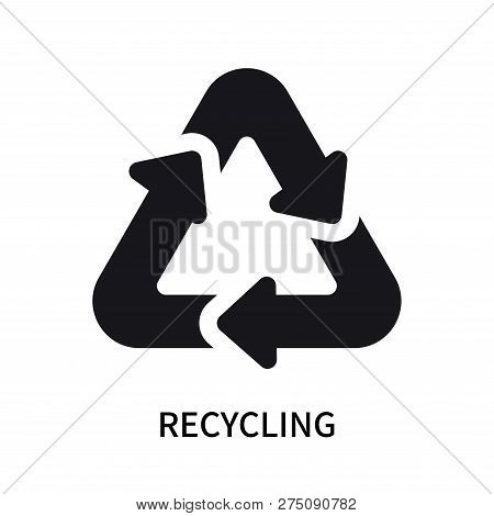 Recycling Icon Isolated On White Background. Recycling Icon Simple Sign. Recycling Icon Trendy And M