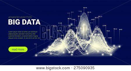 Abstract Tech Concept, Big Data Stream. Artificial Intelligence, Quantum Computing Illustration. Tec
