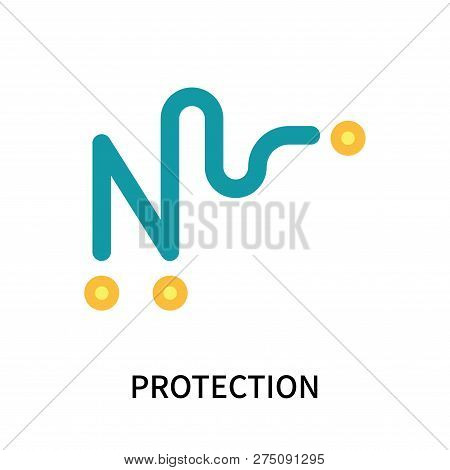 Protection Icon Isolated On White Background. Protection Icon Simple Sign. Protection Icon Trendy An