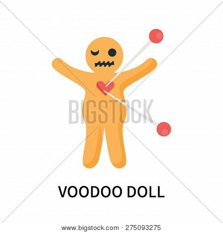 Voodoo Doll Icon Isolated On White Background. Voodoo Doll Icon Simple Sign. Voodoo Doll Icon Trendy