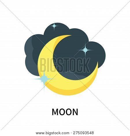 Moon Icon Isolated On White Background. Moon Icon Simple Sign. Moon Icon Trendy And Modern Symbol Fo