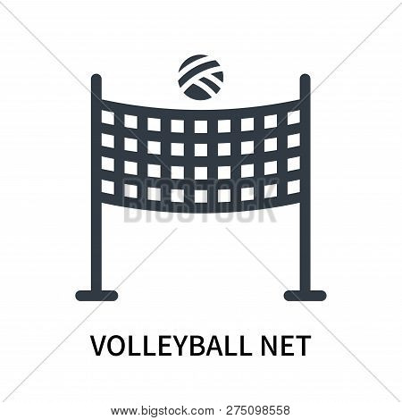 Volleyball Net Icon Isolated On White Background. Volleyball Net Icon Simple Sign. Volleyball Net Ic