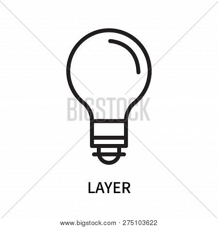 Layer Icon Isolated On White Background. Layer Icon Simple Sign. Layer Icon Trendy And Modern Symbol