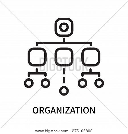 Organization Icon Isolated On White Background. Organization Icon Simple Sign. Organization Icon Tre