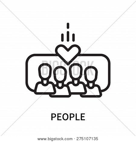 People Icon Isolated On White Background. People Icon Simple Sign. People Icon Trendy And Modern Sym