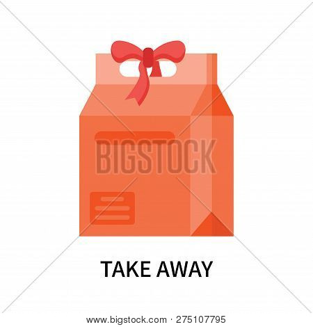 Take Away Icon Isolated On White Background. Take Away Icon Simple Sign. Take Away Icon Trendy And M