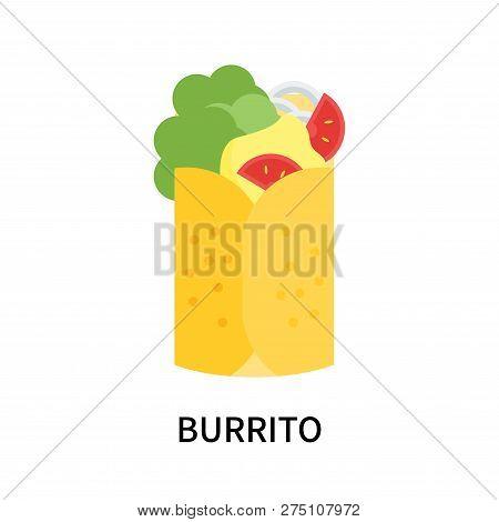 Burrito Icon Isolated On White Background. Burrito Icon Simple Sign. Burrito Icon Trendy And Modern
