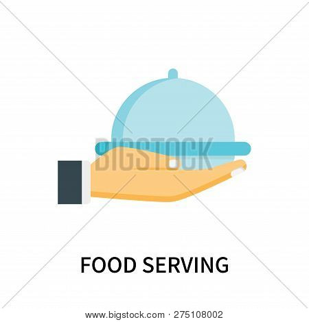 Food Serving Icon Isolated On White Background. Food Serving Icon Simple Sign. Food Serving Icon Tre