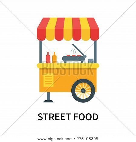 Street Food Icon Isolated On White Background. Street Food Icon Simple Sign. Street Food Icon Trendy