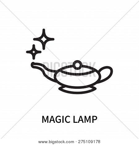 Magic Lamp Icon Isolated On White Background. Magic Lamp Icon Simple Sign. Magic Lamp Icon Trendy An