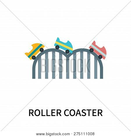 Roller Coaster Icon Isolated On White Background. Roller Coaster Icon Simple Sign. Roller Coaster Ic