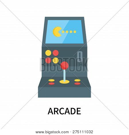 Arcade Icon Isolated On White Background. Arcade Icon Simple Sign. Arcade Icon Trendy And Modern Sym