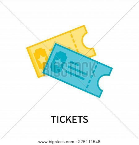 Tickets Icon Isolated On White Background. Tickets Icon Simple Sign. Tickets Icon Trendy And Modern