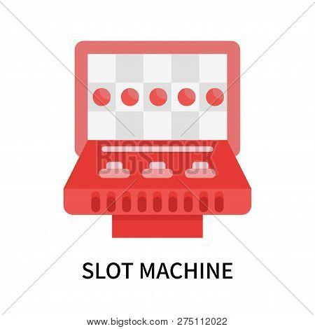 Slot Machine Icon Isolated On White Background. Slot Machine Icon Simple Sign. Slot Machine Icon Tre