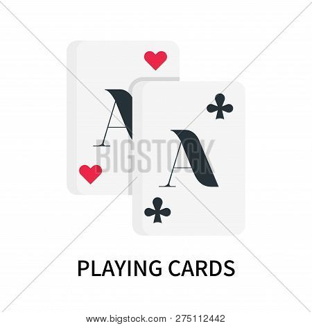 Playing Cards Icon Isolated On White Background. Playing Cards Icon Simple Sign. Playing Cards Icon