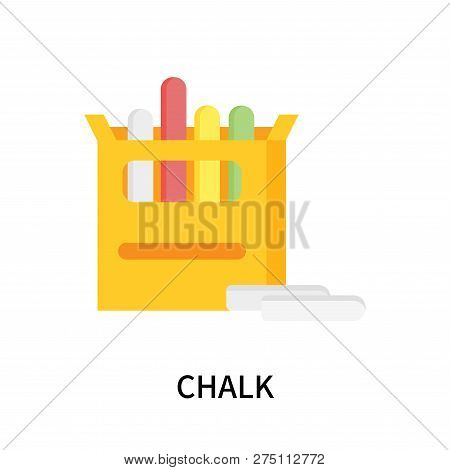 Chalk Icon Isolated On White Background. Chalk Icon Simple Sign. Chalk Icon Trendy And Modern Symbol