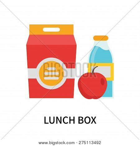 Lunch Box Icon Isolated On White Background. Lunch Box Icon Simple Sign. Lunch Box Icon Trendy And M