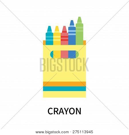 Crayon Icon Isolated On White Background. Crayon Icon Simple Sign. Crayon Icon Trendy And Modern Sym