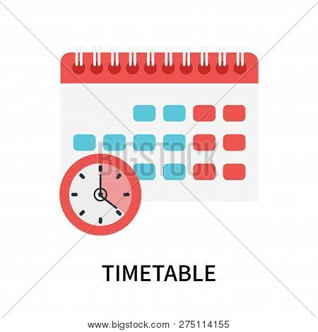 Timetable Icon Isolated On White Background. Timetable Icon Simple Sign. Timetable Icon Trendy And M