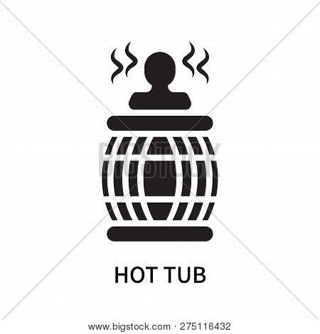 Hot Tub Icon Isolated On White Background. Hot Tub Icon Simple Sign. Hot Tub Icon Trendy And Modern