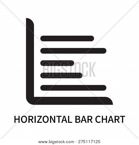 Horizontal Bar Chart Icon Isolated On White Background. Horizontal Bar Chart Icon Simple Sign. Horiz