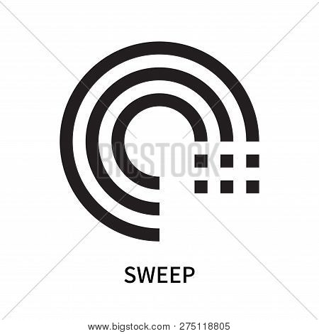 Sweep Icon Isolated On White Background. Sweep Icon Simple Sign. Sweep Icon Trendy And Modern Symbol