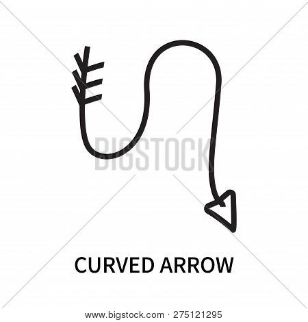 Curved Arrow Icon Isolated On White Background. Curved Arrow Icon Simple Sign. Curved Arrow Icon Tre