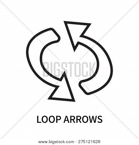 Loop Arrows Icon Isolated On White Background. Loop Arrows Icon Simple Sign. Loop Arrows Icon Trendy