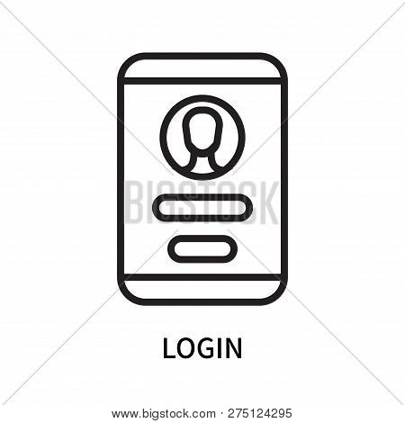 Login Icon Isolated On White Background. Login Icon Simple Sign. Login Icon Trendy And Modern Symbol