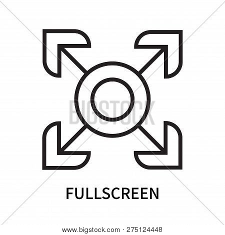 Fullscreen Icon Isolated On White Background. Fullscreen Icon Simple Sign. Fullscreen Icon Trendy An