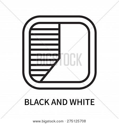 Black And White Icon Isolated On White Background. Black And White Icon Simple Sign. Black And White