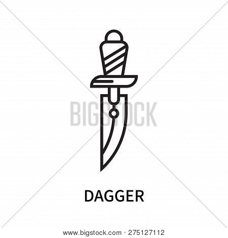 Dagger Icon Isolated On White Background. Dagger Icon Simple Sign. Dagger Icon Trendy And Modern Sym