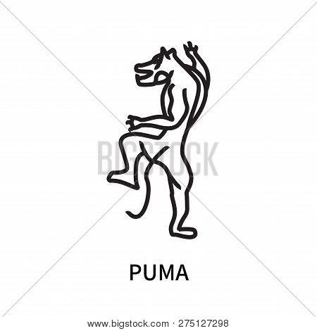 Puma Icon Isolated On White Background. Puma Icon Simple Sign. Puma Icon Trendy And Modern Symbol Fo