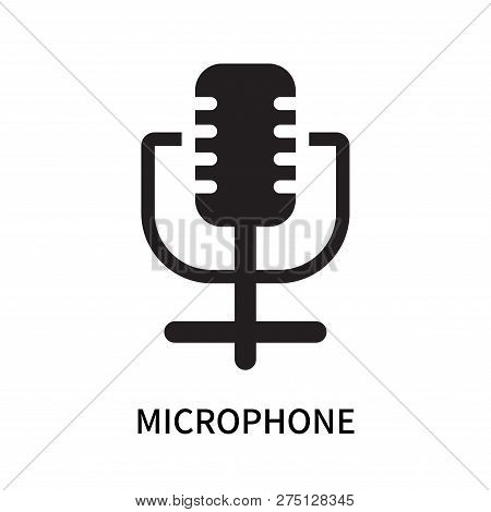 Microphone Icon Isolated On White Background. Microphone Icon Simple Sign. Microphone Icon Trendy An