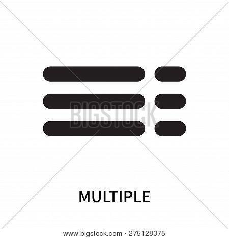 Multiple Icon Isolated On White Background. Multiple Icon Simple Sign. Multiple Icon Trendy And Mode