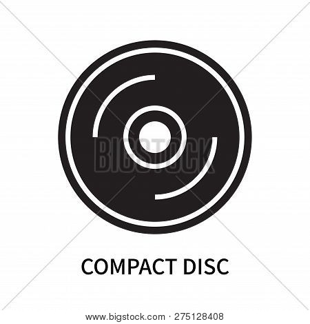 Compact Disc Icon Isolated On White Background. Compact Disc Icon Simple Sign. Compact Disc Icon Tre