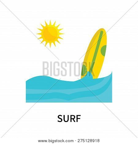 Surf Icon Isolated On White Background. Surf Icon Simple Sign. Surf Icon Trendy And Modern Symbol Fo