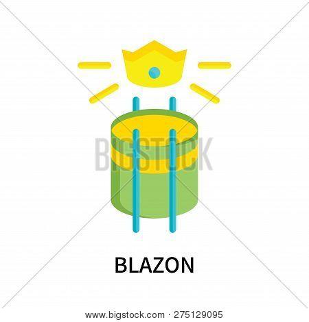 Blazon Icon Isolated On White Background. Blazon Icon Simple Sign. Blazon Icon Trendy And Modern Sym