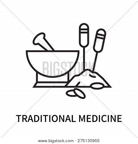 Traditional Medicine Icon Isolated On White Background. Traditional Medicine Icon Simple Sign. Tradi