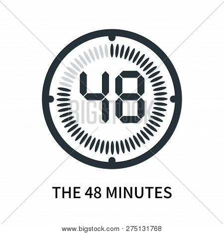 The 48 Minutes Icon Isolated On White Background. The 48 Minutes Icon Simple Sign. The 48 Minutes Ic