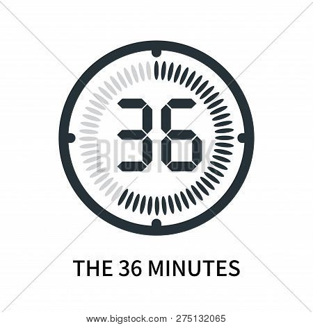 The 36 Minutes Icon Isolated On White Background. The 36 Minutes Icon Simple Sign. The 36 Minutes Ic