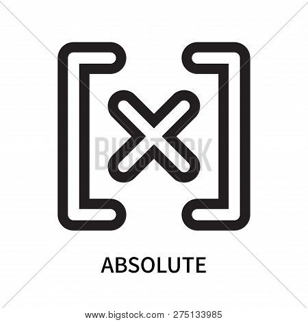 Absolute Icon Isolated On White Background. Absolute Icon Simple Sign. Absolute Icon Trendy And Mode