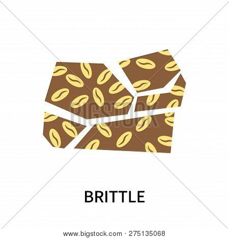 Brittle Icon Isolated On White Background. Brittle Icon Simple Sign. Brittle Icon Trendy And Modern