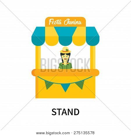 Stand Icon Isolated On White Background. Stand Icon Simple Sign. Stand Icon Trendy And Modern Symbol